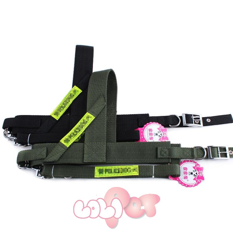 dây dắt + đai ngực Police xịn khóa inox 2