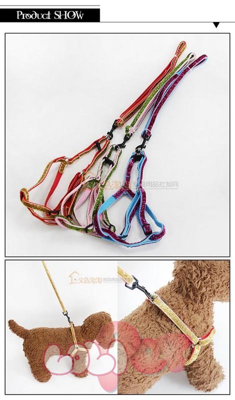 dây dắt + vòng cổ lấp lánh 2